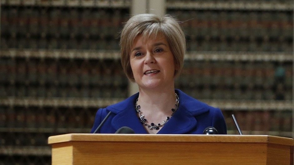Deputy First Minister Nicola Sturgeon presents proposals for a written constitution for an independent Scotland
