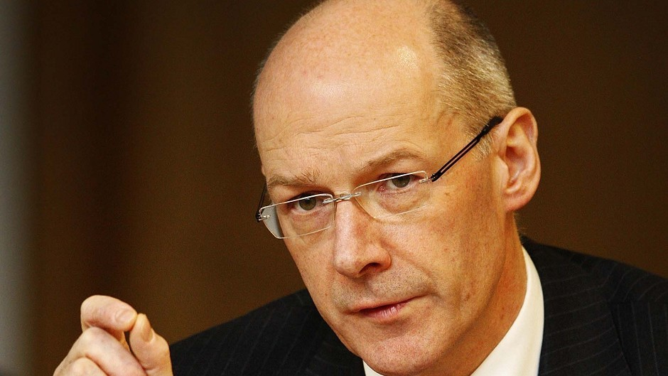 John Swinney has said he favoured borrowing to boost public spending in the early years of an independent Scotland.
