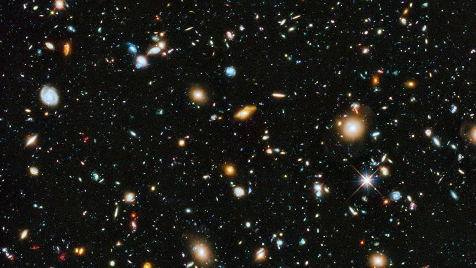 The riot of colour collected from the Hubble Space Telescope over a nine-year period (AP /Nasa)