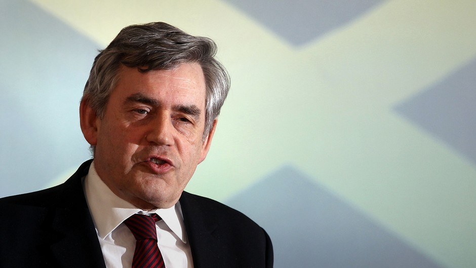 Gordon Brown said almost a million jobs in Scotland are linked to it being part of the UK