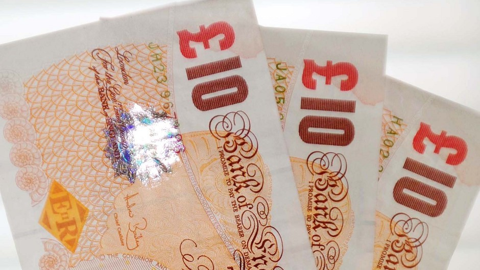 The cash was found in a bin in Stonehaven