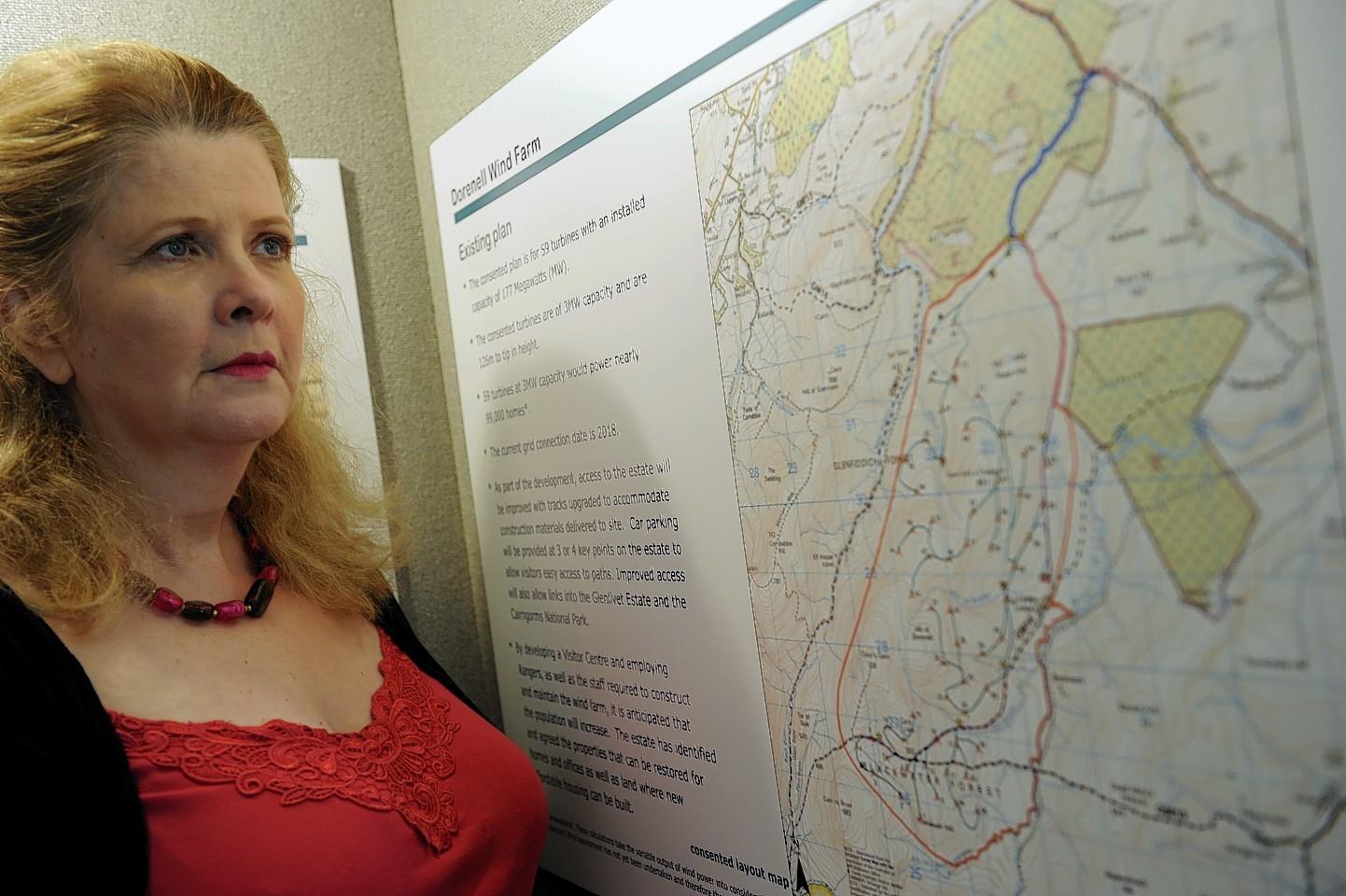 Patti Nelson of the Cabrach Community Association