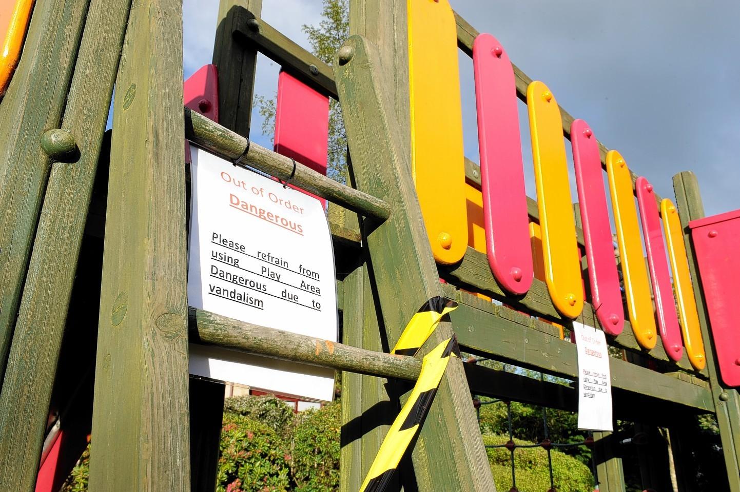 The children's play area in Bieldside