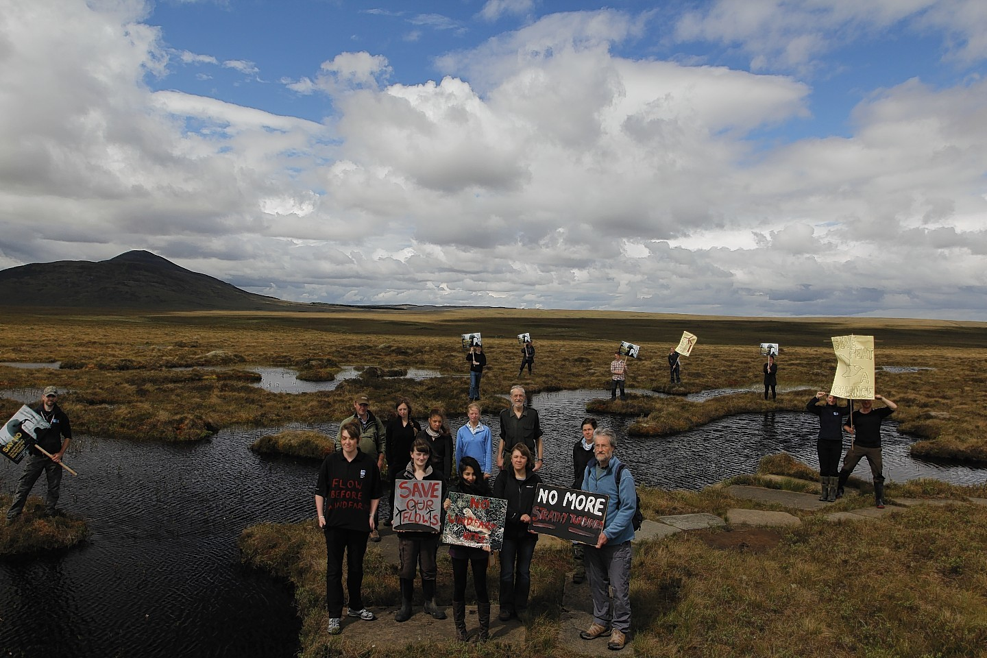 RSPB campaigners at Strathy South
