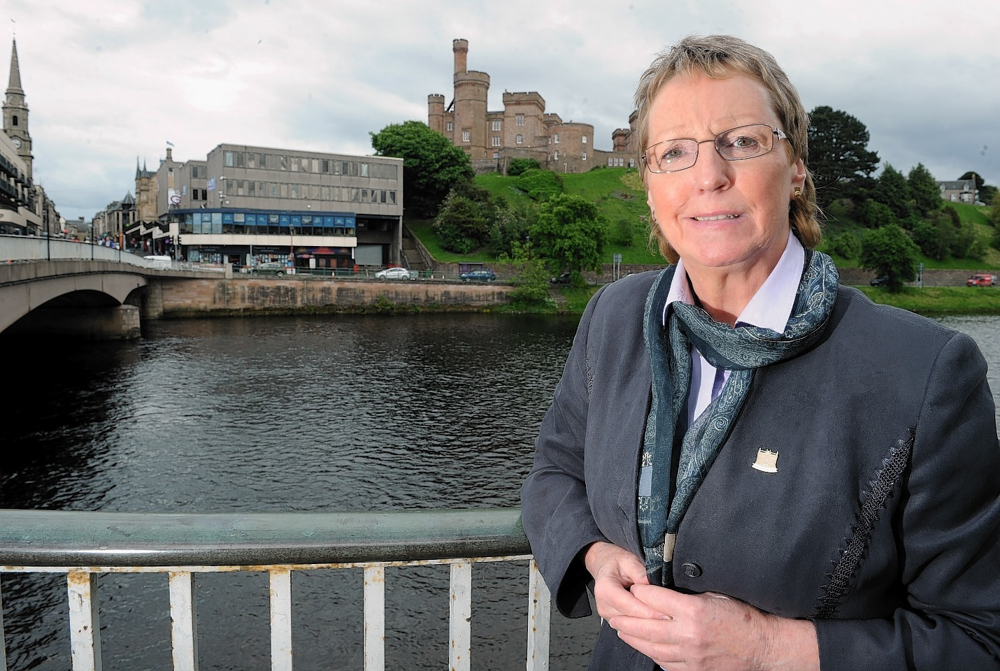 Councillor Janet Campbell at the proposed rooftop garden