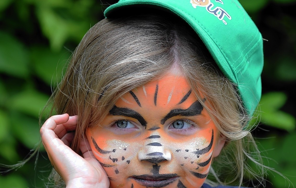 The Rotary Clubs, Kids Out day, at SRUC Craibstone , Aberdeen. In the picture is Ruby Marr, Sunnybank school, Aberdeen.