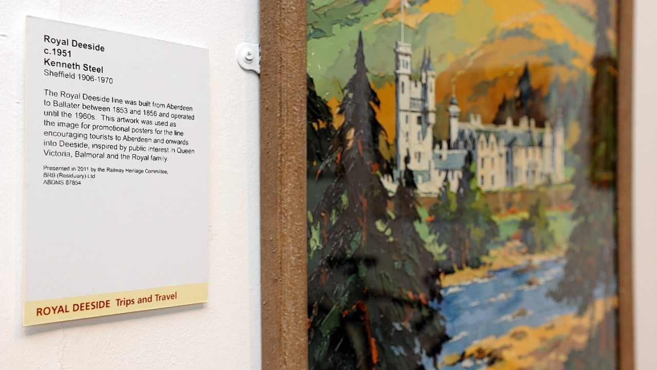 A painting of Balmoral Castle forms part of the exhibition
