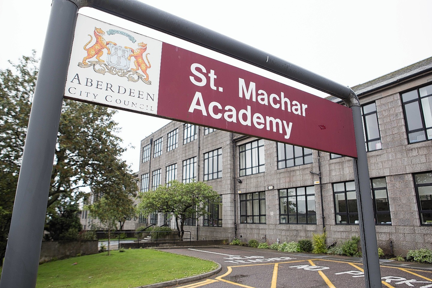 St Machar Academy where the incident allegedly took place.