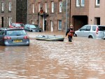 The aftermath of the 2012 floods in Stonehaven
