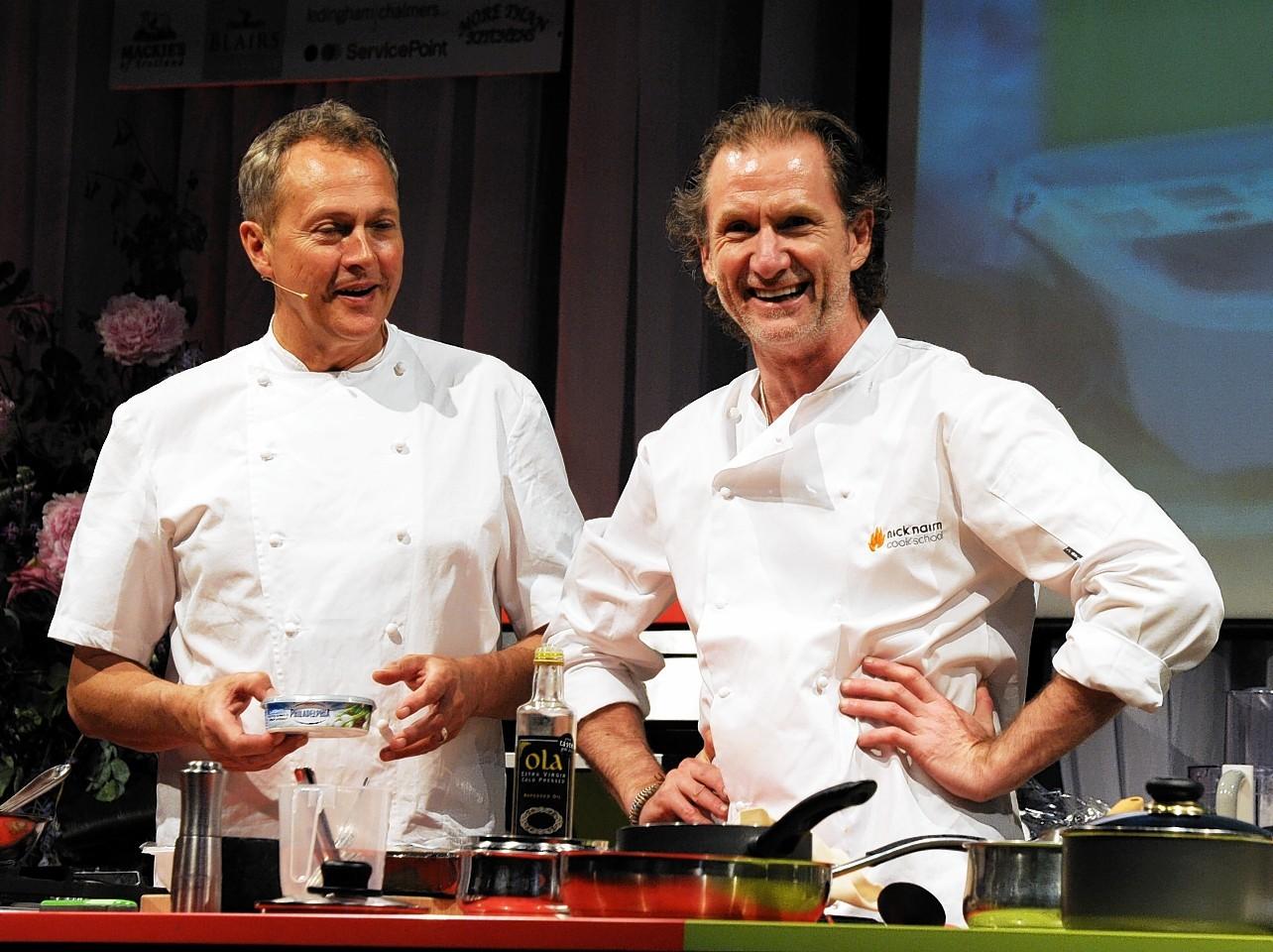 Nick Nairn and Paul Rankin at Taste of Grampian 2014