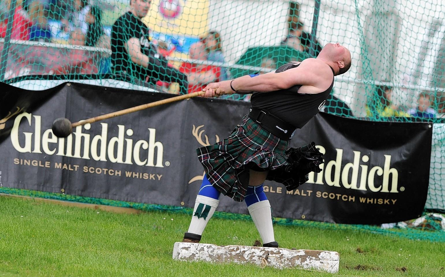 Photo of Highland games athlete Craig Sinclair.