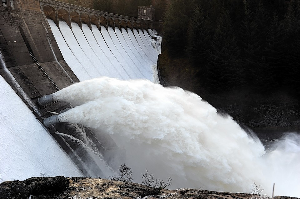 Green energy sources such as hydro provided nearly half of Scotland's electricity.