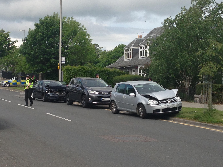 Three car crash on Cromwell Place