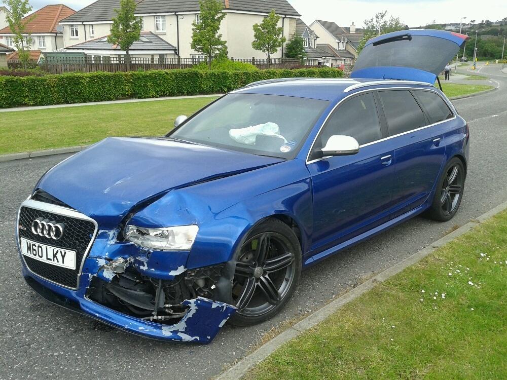 The Audi involved in the crash
