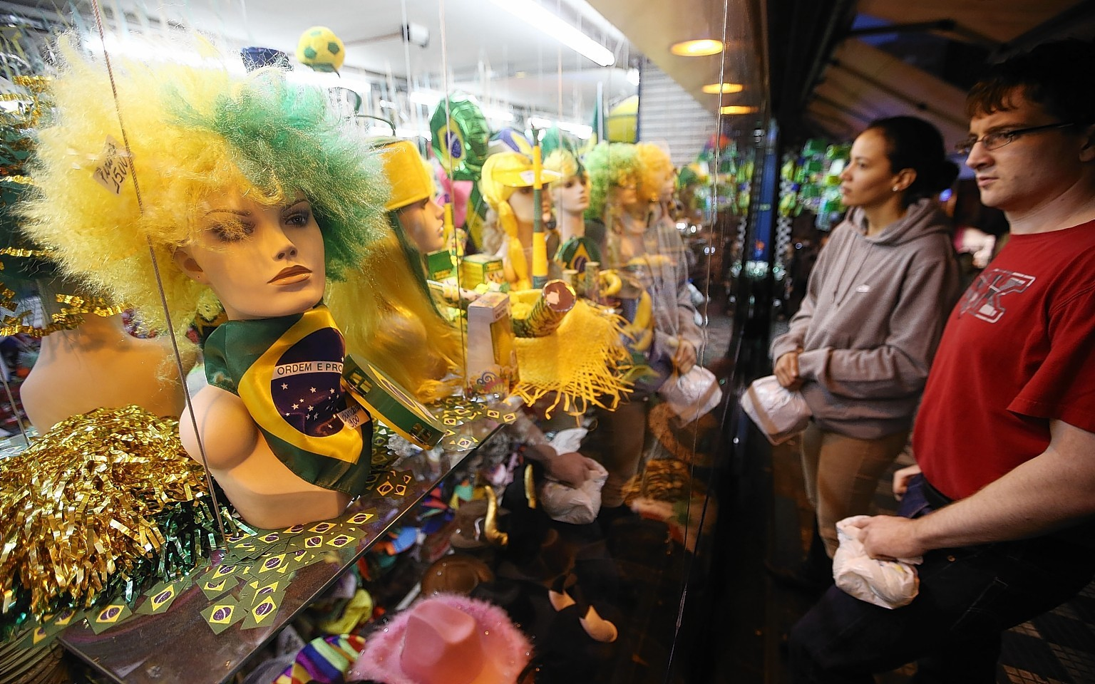Merchandise for the World Cup in Brazil