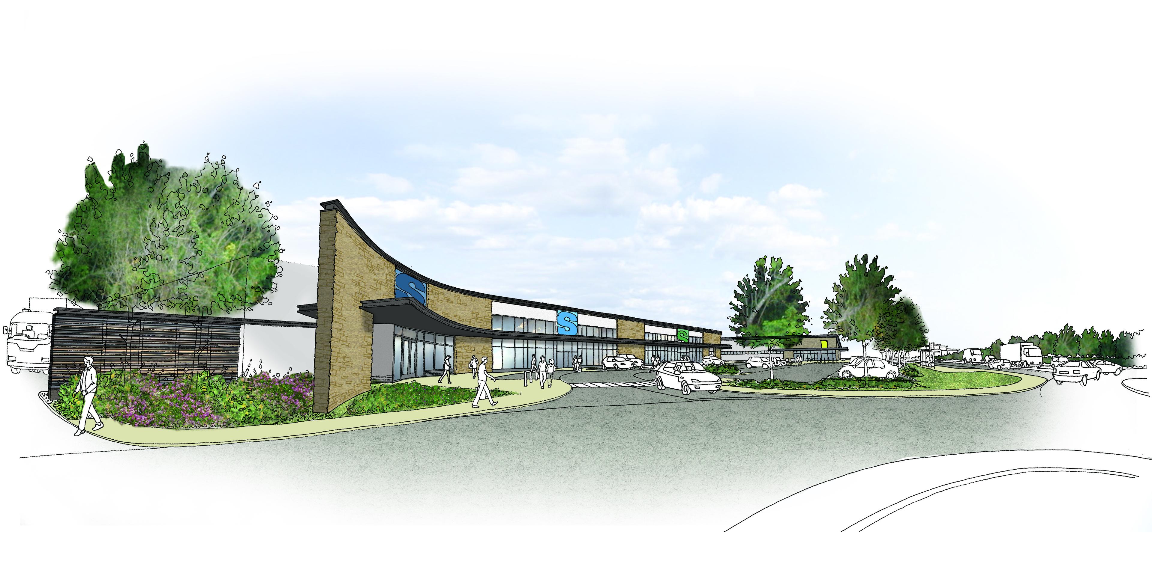 Artist's impression of proposed Fort William retail park