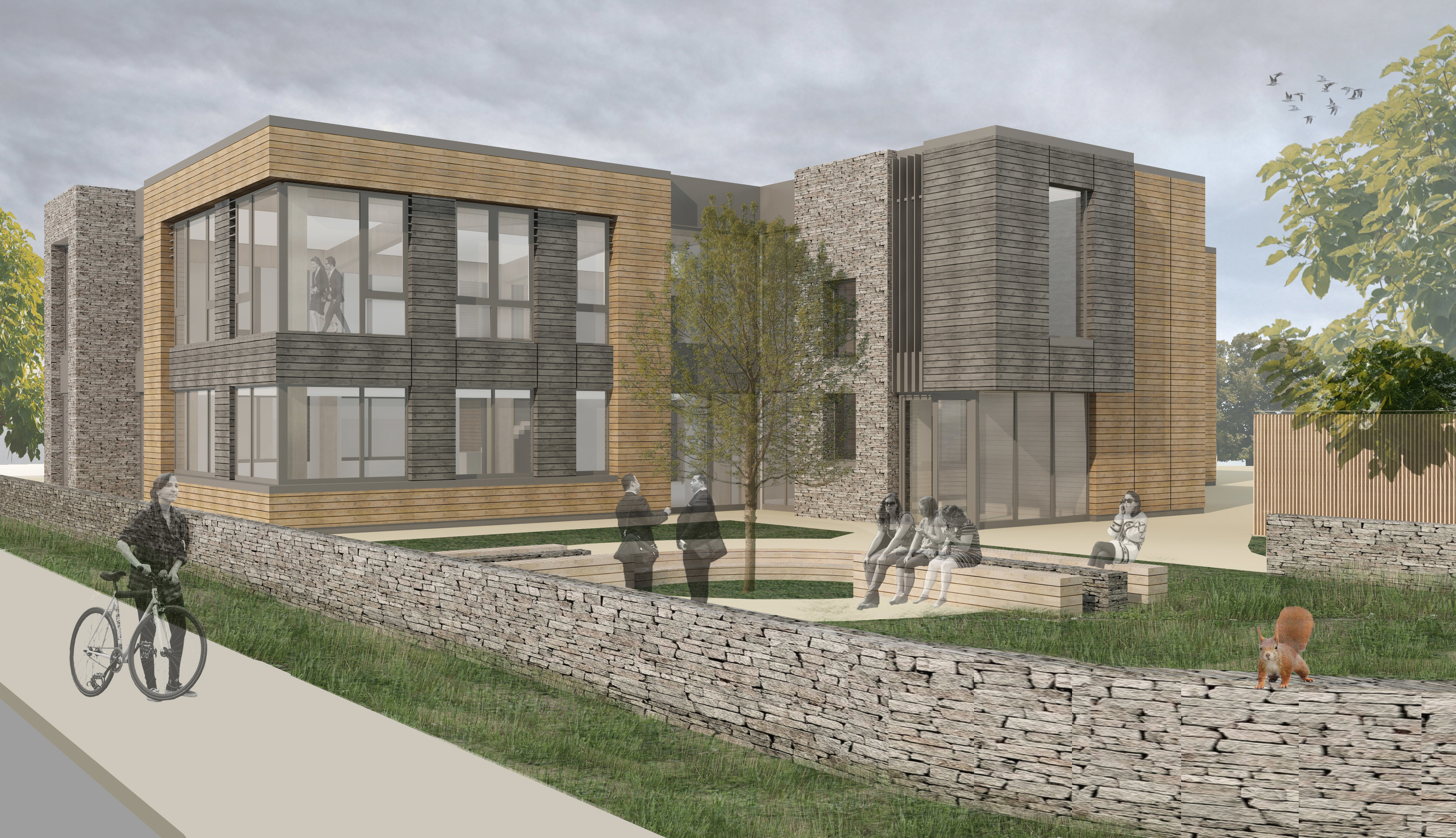 An artists impression of the Life Sciences facility to be built at Plot 8, Inverness Campus.