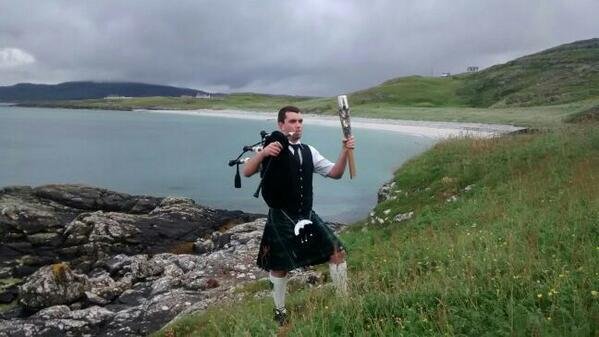 The Baton Relay on the Western Isles  Credit: Batonrelay 2014, Twitter @Batonrelay2014