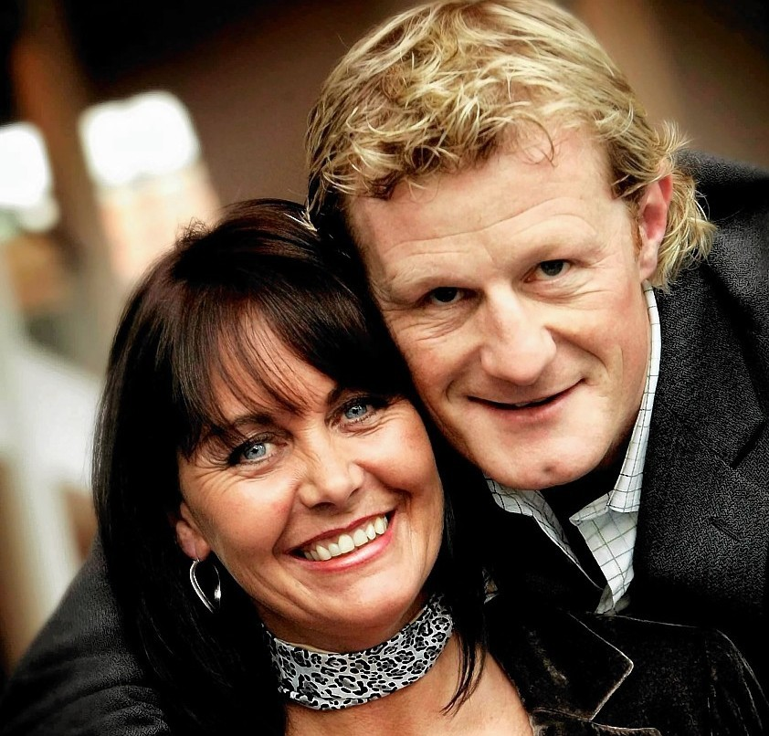 Colin Hendry with Denise