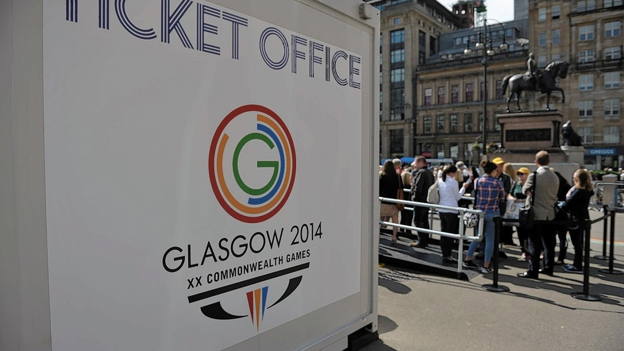 Queues for tickets at the Glasgow Commonwealth Games