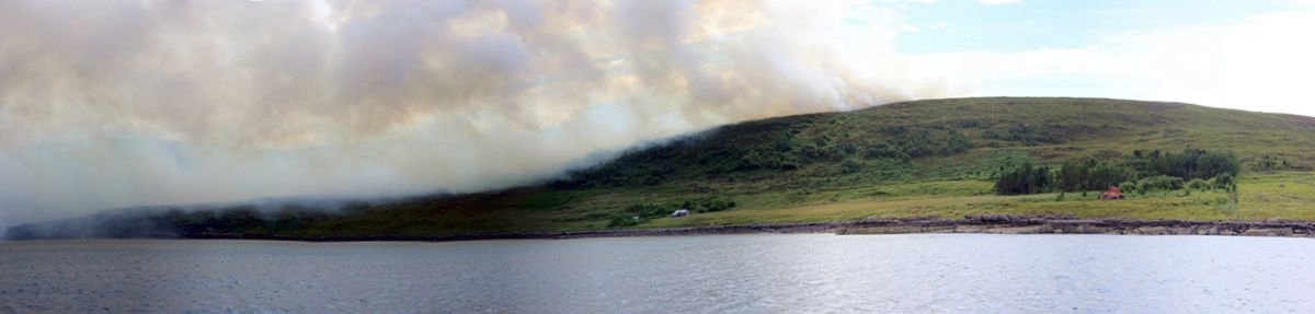 Scoraig peninsula fire. Credit: Noel Hawkins.