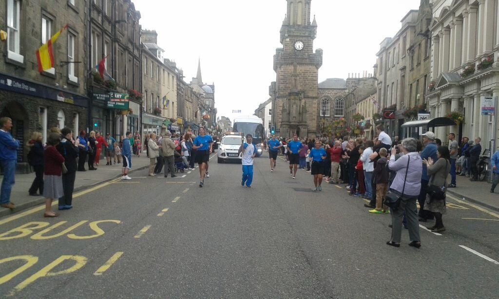 The Baton Relay in Forres