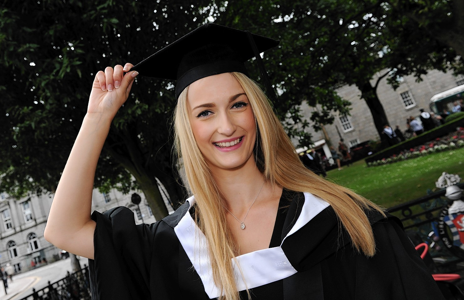 Gemma graduates with a degree in nutrition and dietetics