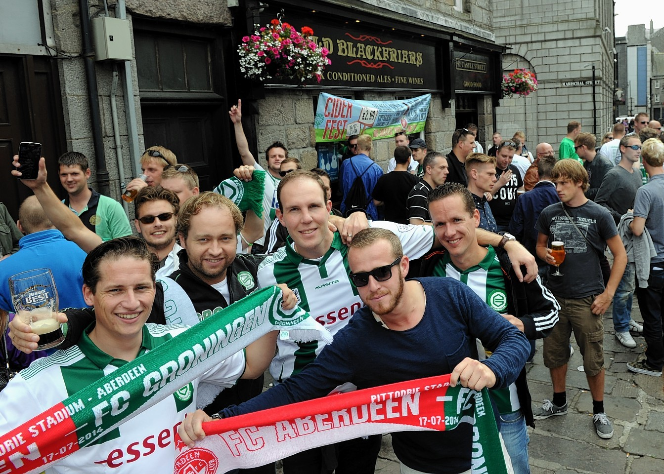 FC Groningen fans at The Carlton, in the Castlegate