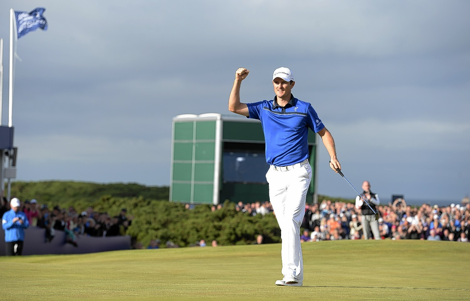 Justin Rose at the Scottish Open in Aberdeen
