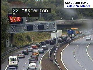 M90 traffic building. Picture credit: Traffic Scotland Twitter