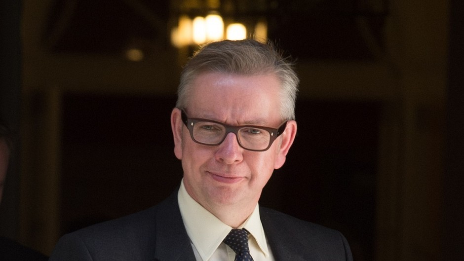 Michael Gove found himself trapped in the Labour lobby loo in his first day as chief whip