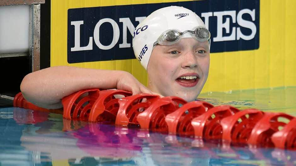 13-year-old Commonwealth Games medal winning swimmer Erraid Davies