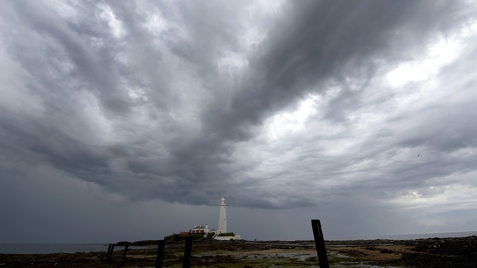Thunderstorms bringing rain are forecast to hit Scotland