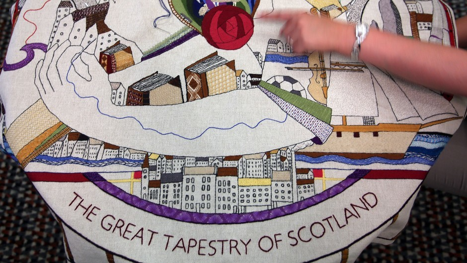 Thirty panels from the Great Tapestry of Scotland will be on show  on Benbecula