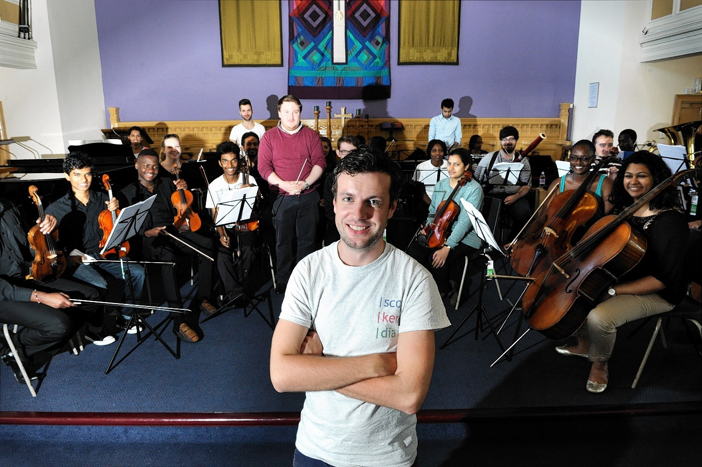 Jamie Munn, a singer with the Scokendia Ensemble, will be performing at the Glasgow 2014 Cultural Programme
