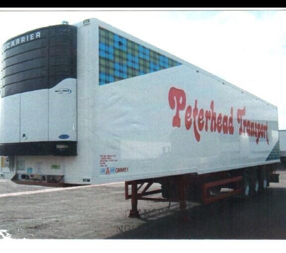 The stolen trailer full of prawns