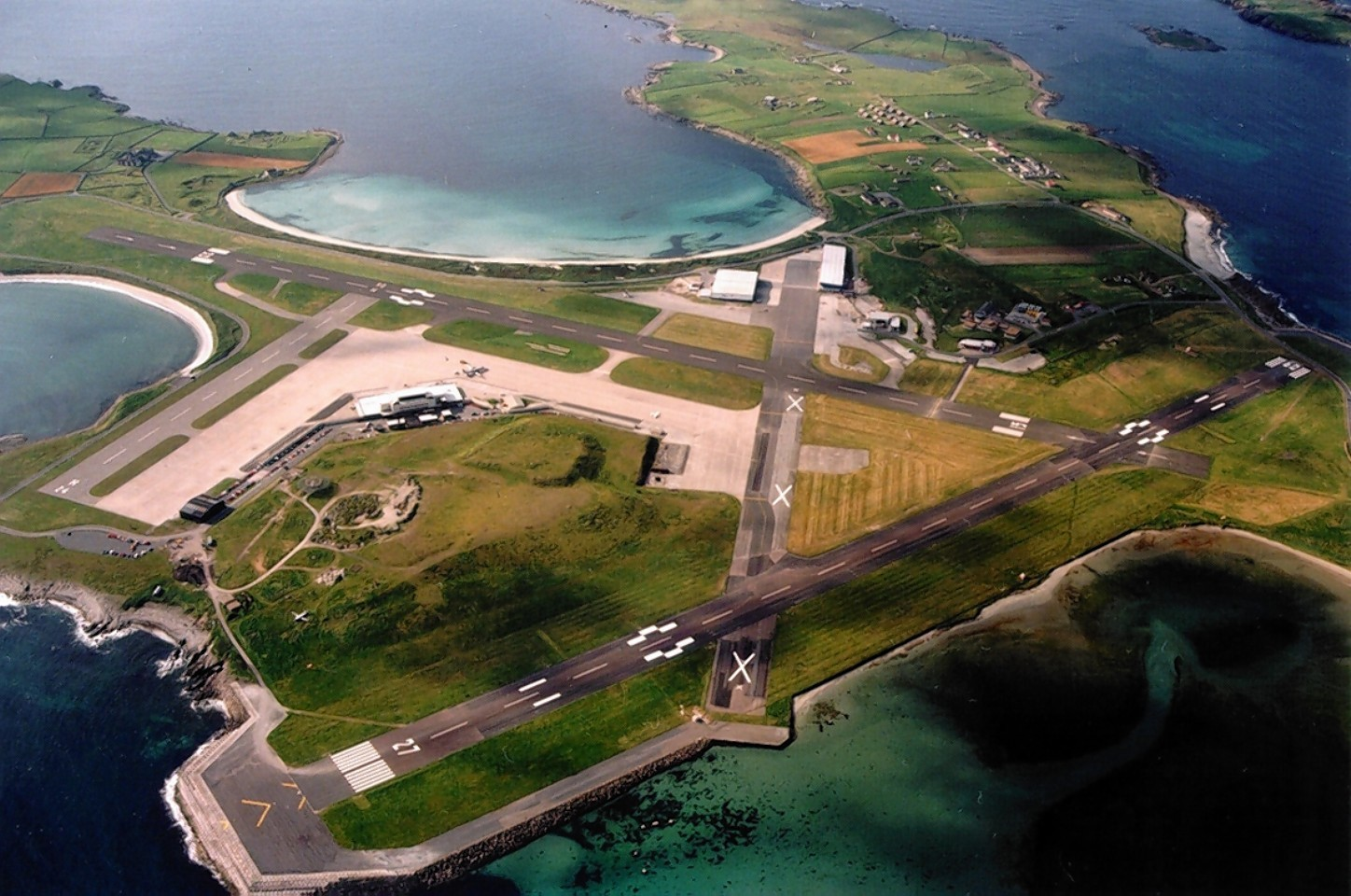 Sumburgh Airport was closed because of an emergency situation on Sunday afternoon.