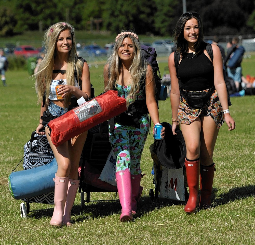 Campers make their way to T in the Park