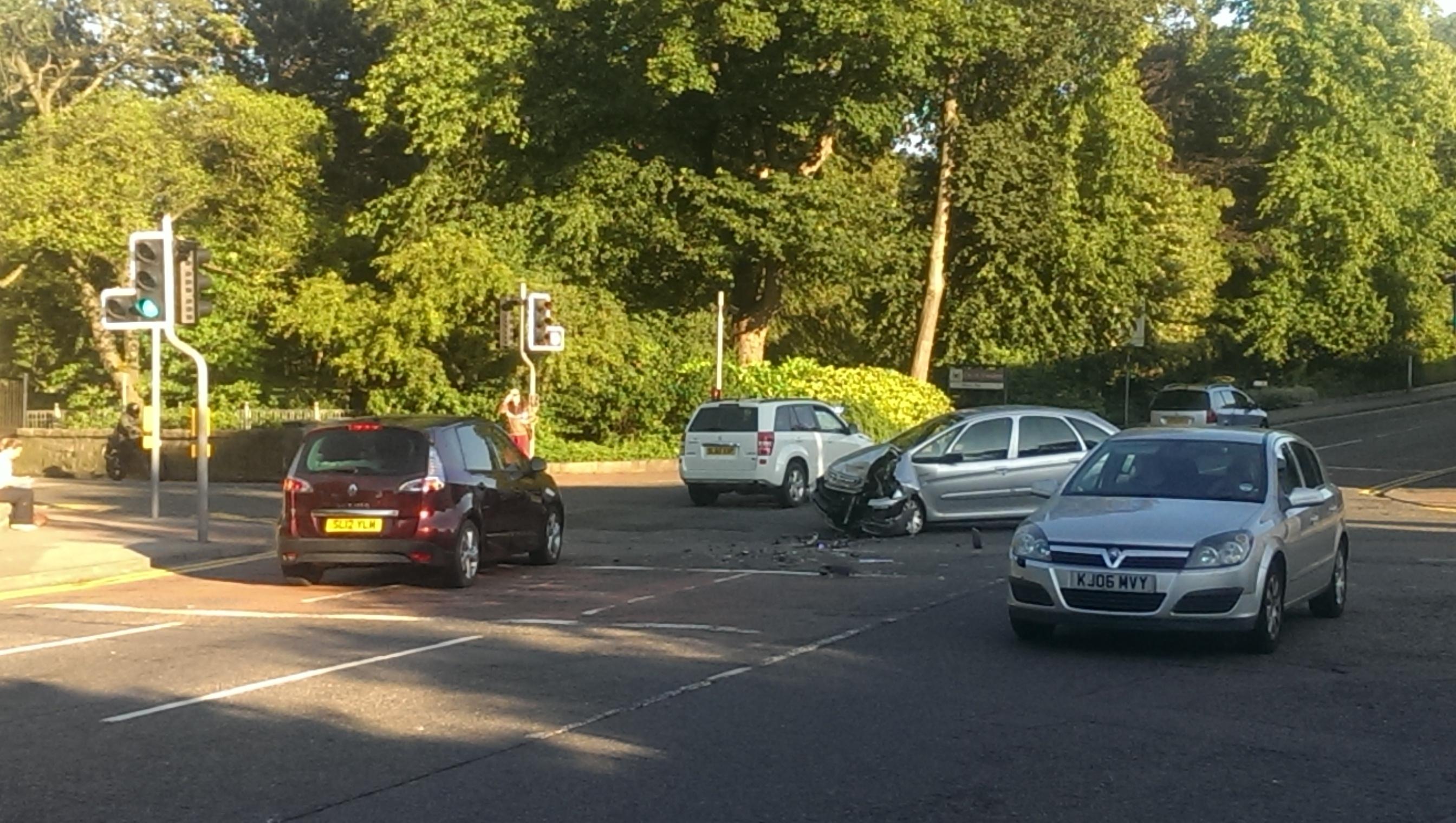 Crash at Westburn Road