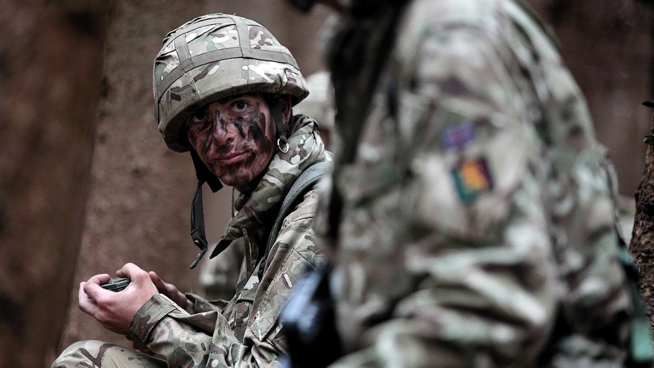 Army Reserve recruits take part in Exercise Summer Challenge, an intensive four-week basic training exercise in Edinburgh, Wednesday 16 July