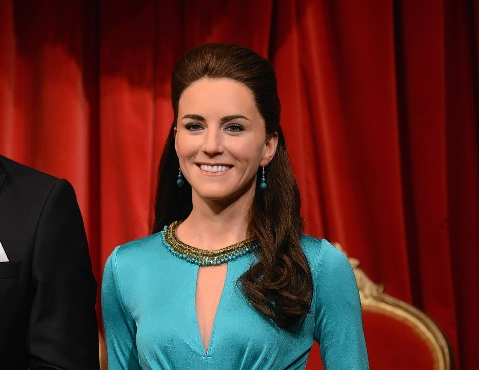Wax figures of the Duke and Duchess of Cambridge are unveiled at Madame Tussauds, London.