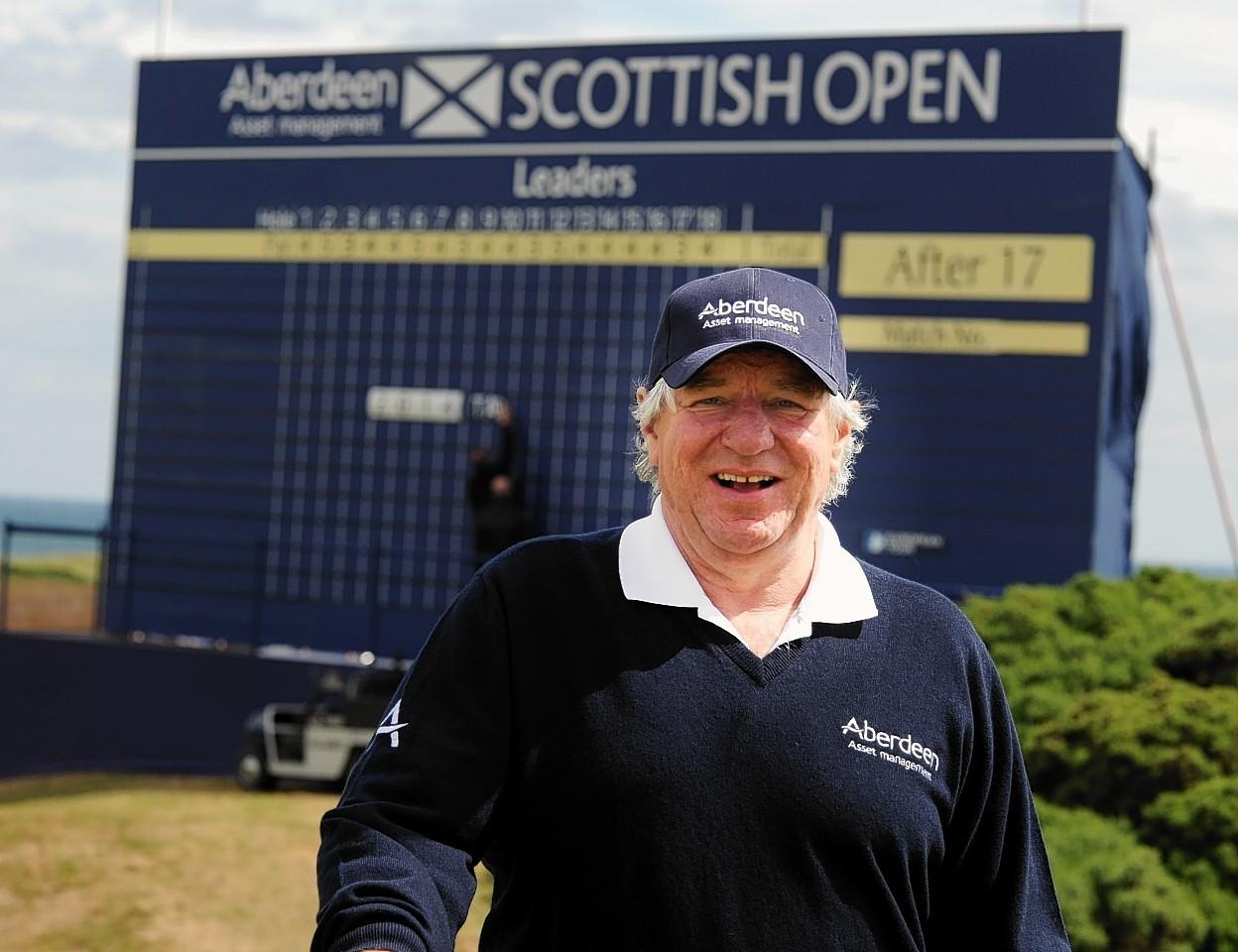 Martin Gilbert at the Scottish Open in Aberdeen