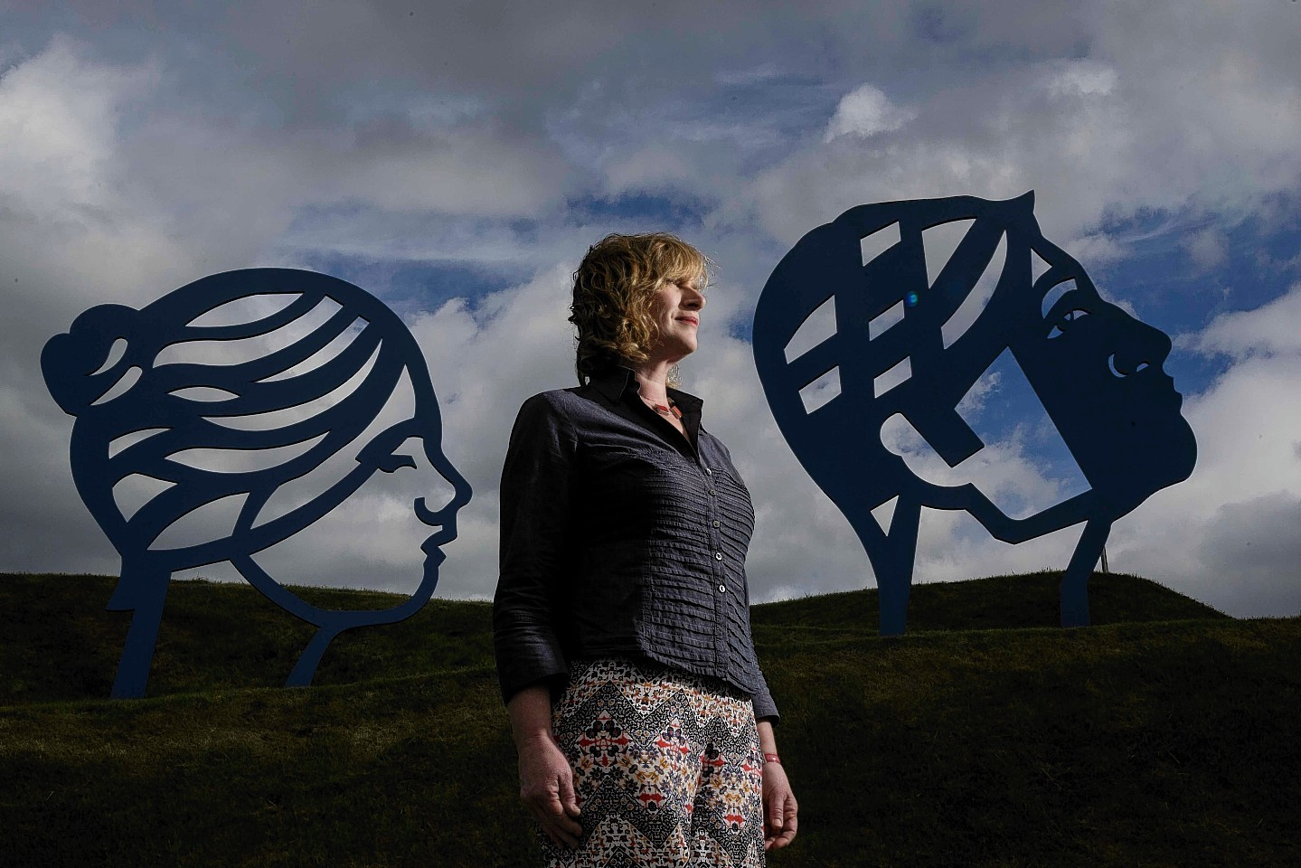 Rosemary Beaton with her artwork at Prime Four