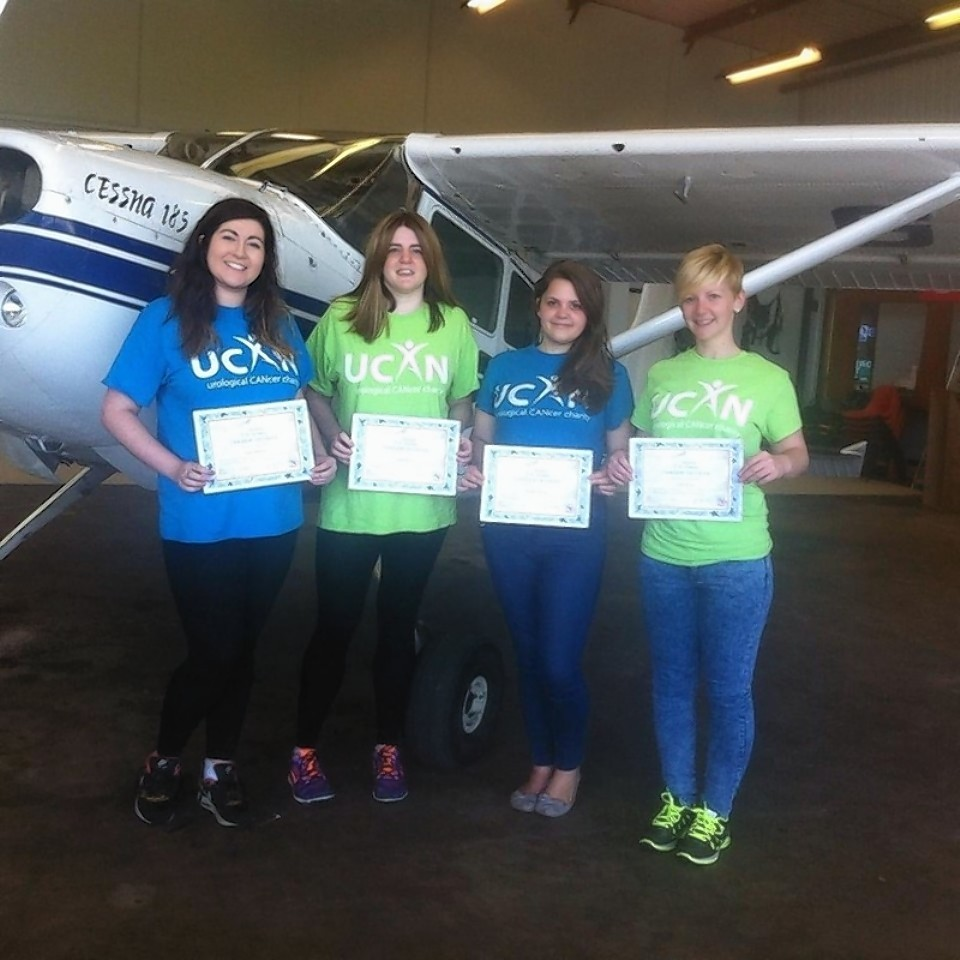 Harkand Angels charity skydive lands over £10,300 for UCAN