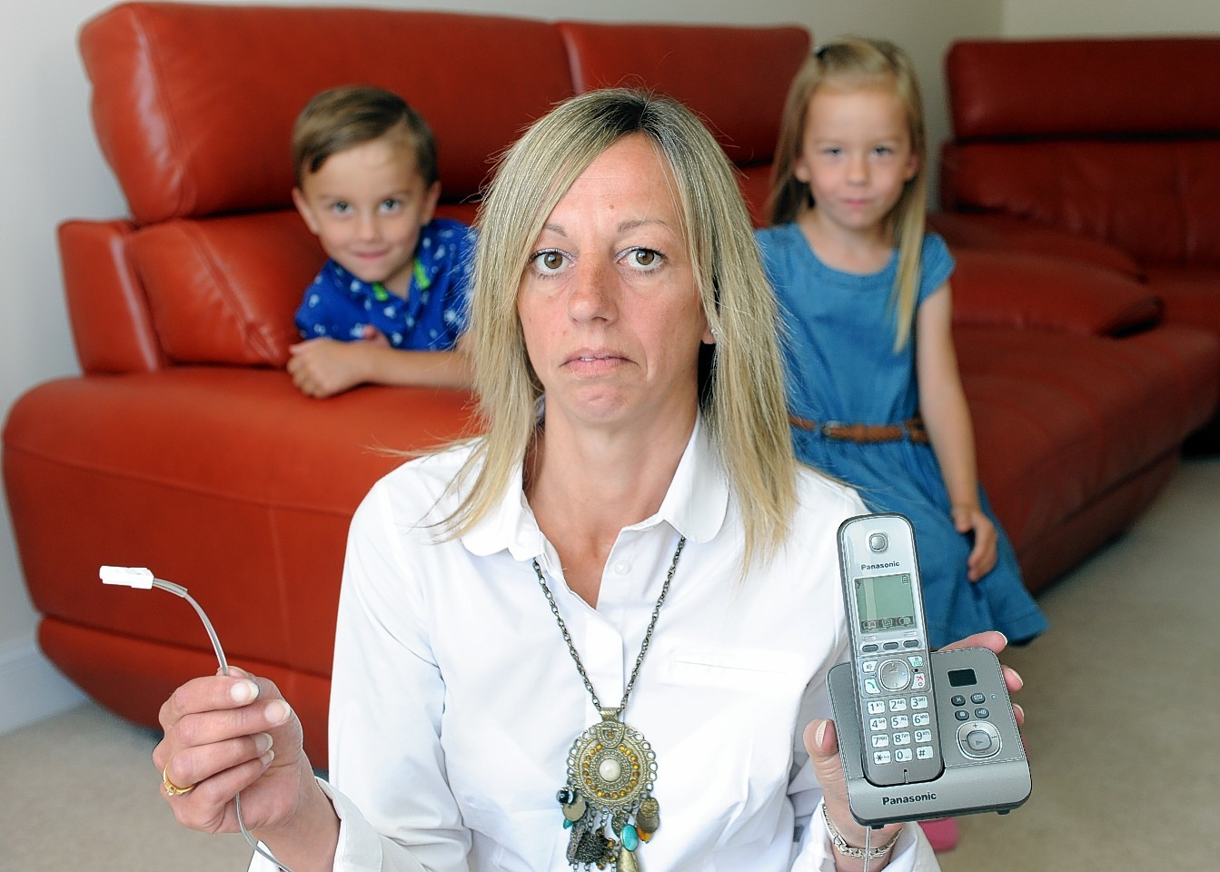 Carol-Ann McKerron and her family have no phone line