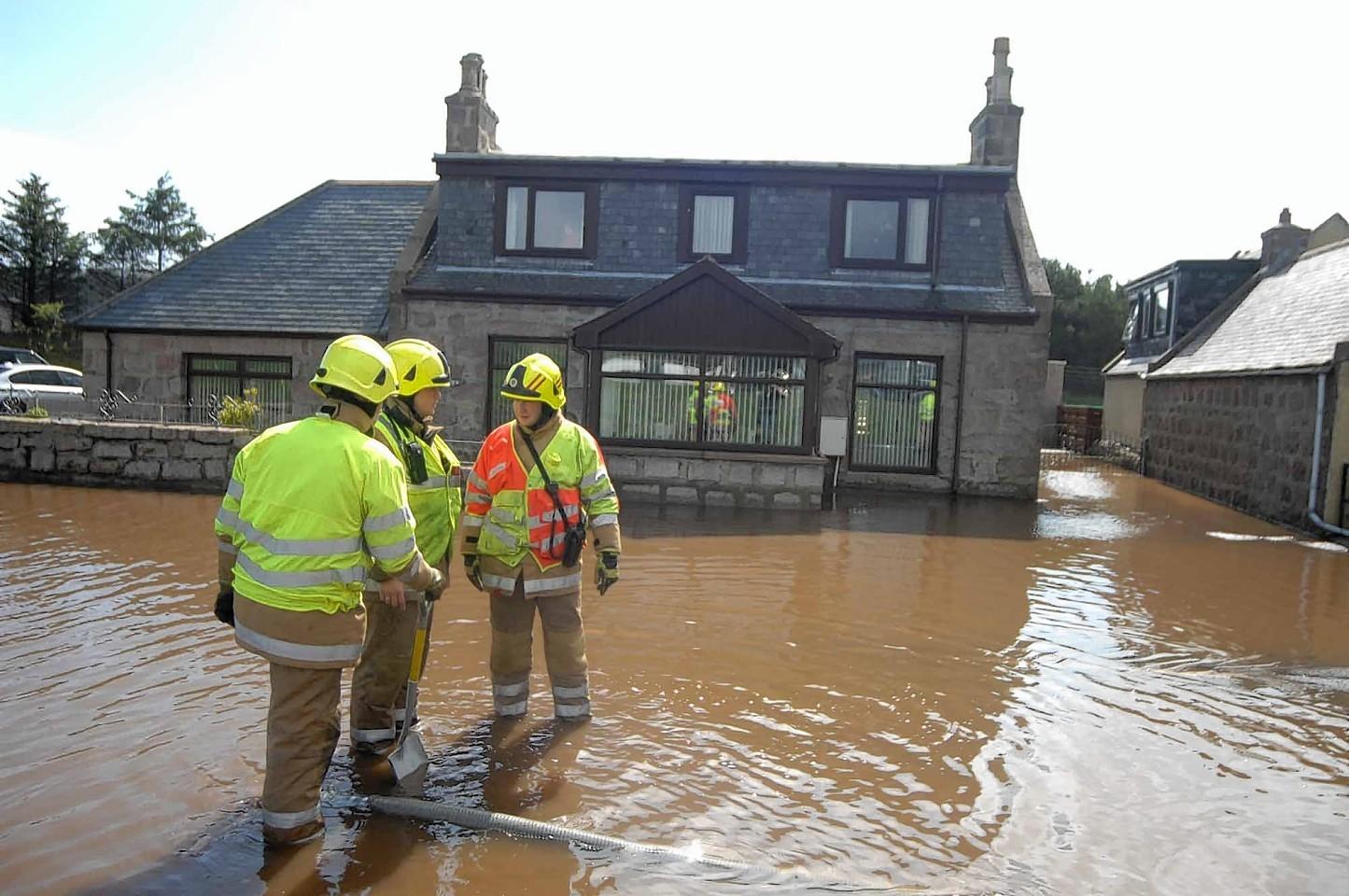 Boddam flooding