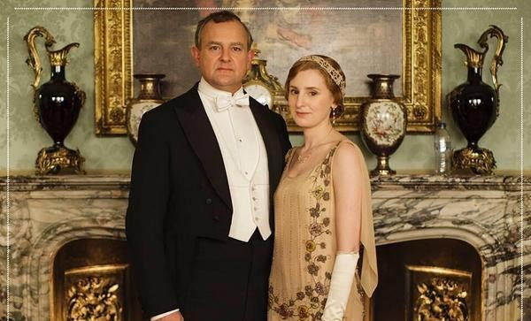 Downton Abbey - can you see unfortunate bottle placement?
