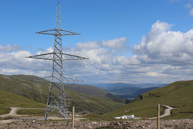 Corrieyairack Pass pylons
