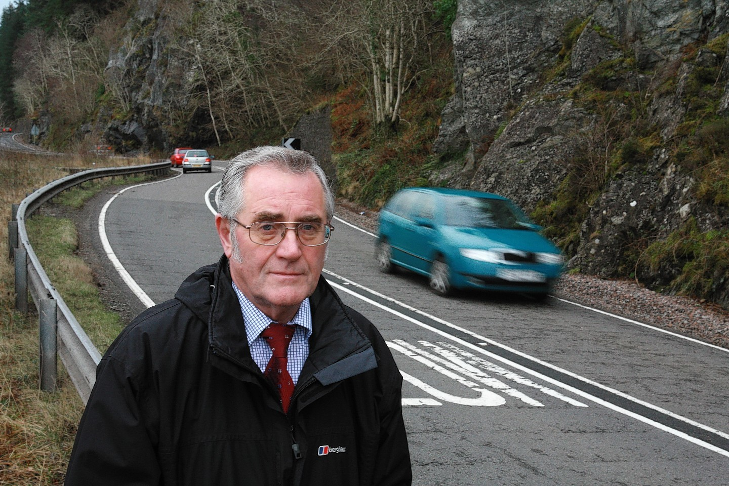 Councillor Brian Murphy by the A82