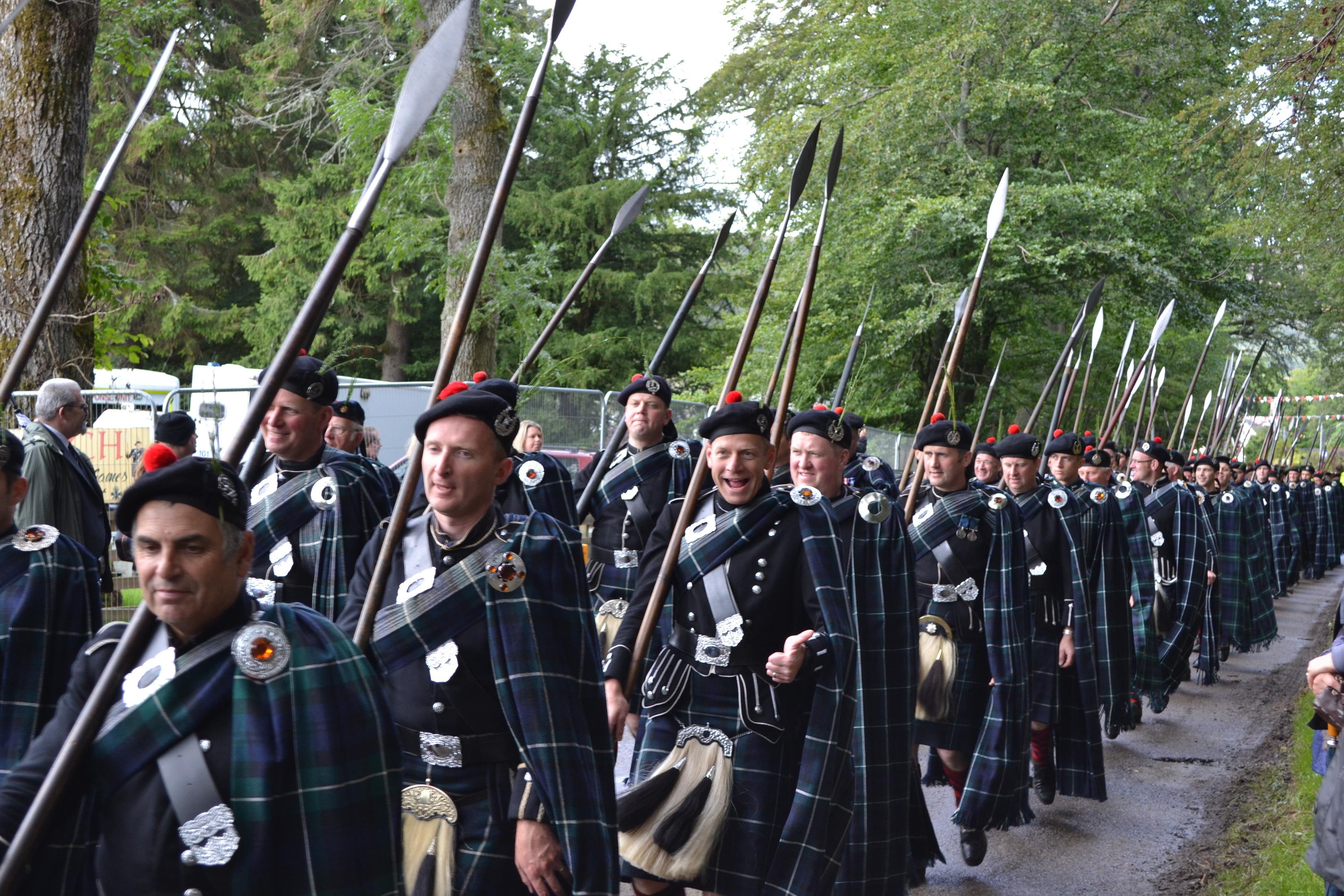 Lonach Men on the march